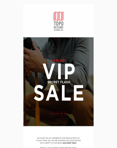 LAST DAY: VIP Secret Flash Sale
