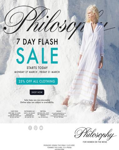 Philosophy's 7 Day Flash Sale!