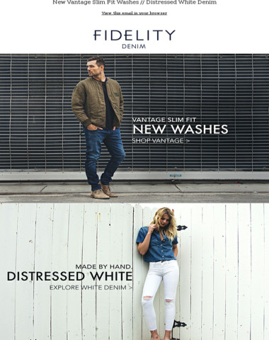 Just in - New Vantage Slim Fit Washes