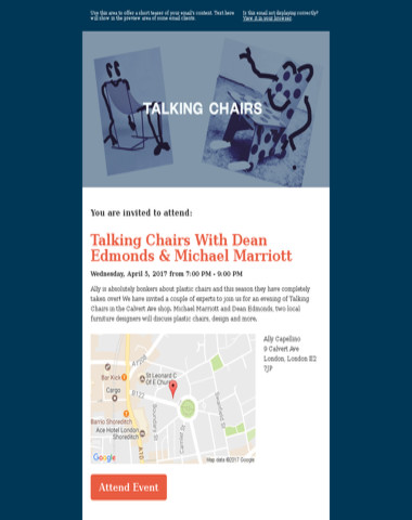 You're Invited | Talking Chairs With Dean Edmonds & Michael Marriott