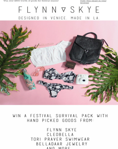 Win yourself a festival survival pack