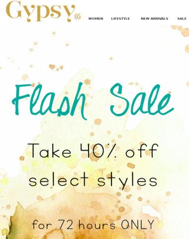 Flash Sale! 40% off!