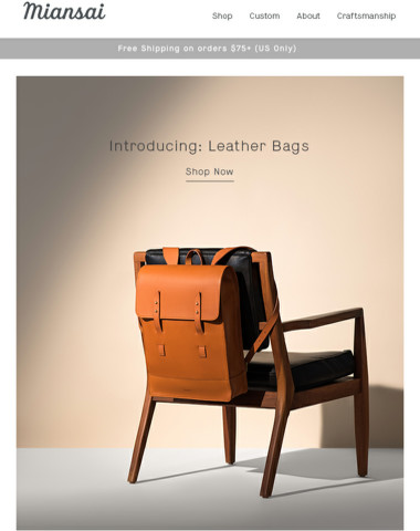 Introducing Our New Leather Bags
