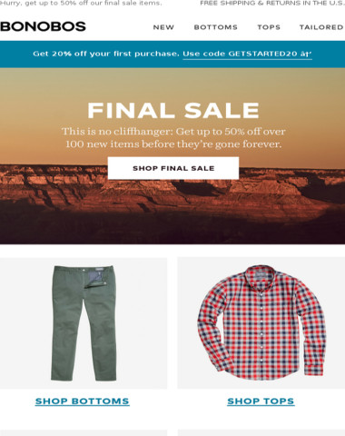 Grand finale: Over 100 FINAL SALE styles added.