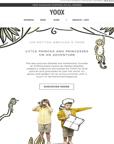 One upon a time there was a princess... and her kids' collection exclusively for YOOX