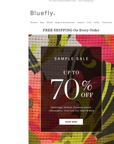 SAMPLE SALE: Up To 70% Off Balenciaga, Giuseppe Zanotti, Versace, Elie Tahari & MORE