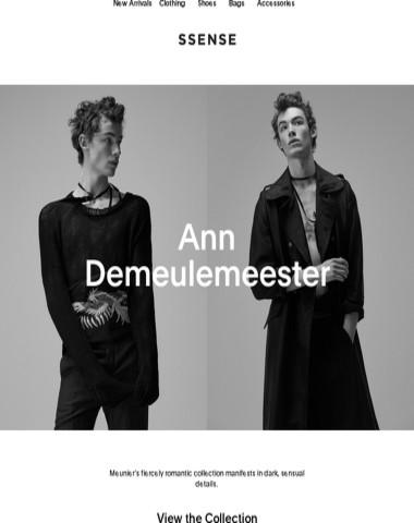 Ann Demeulemeester's moody lover