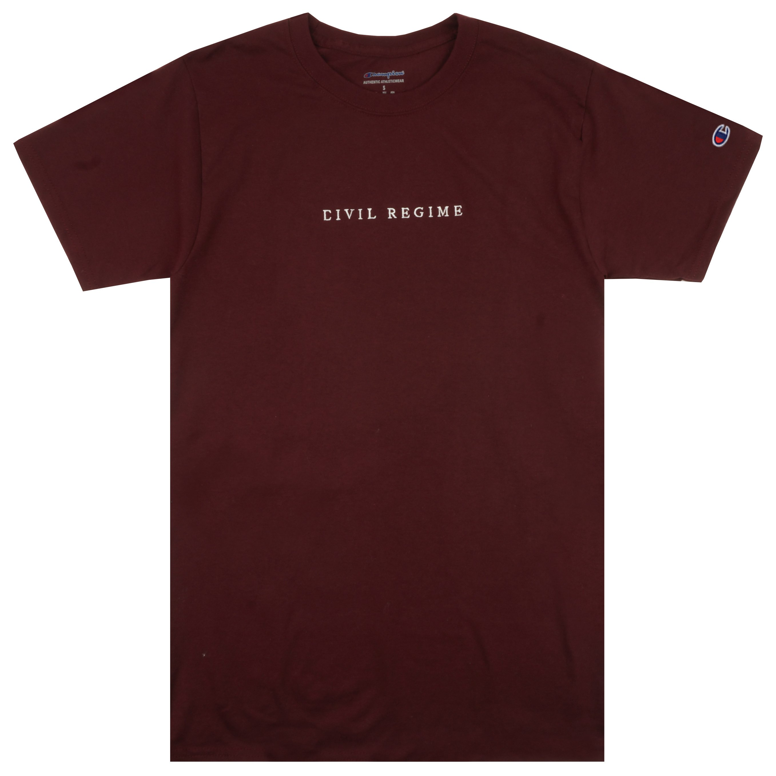 Champion Civil Embroidered Tee in Maroon