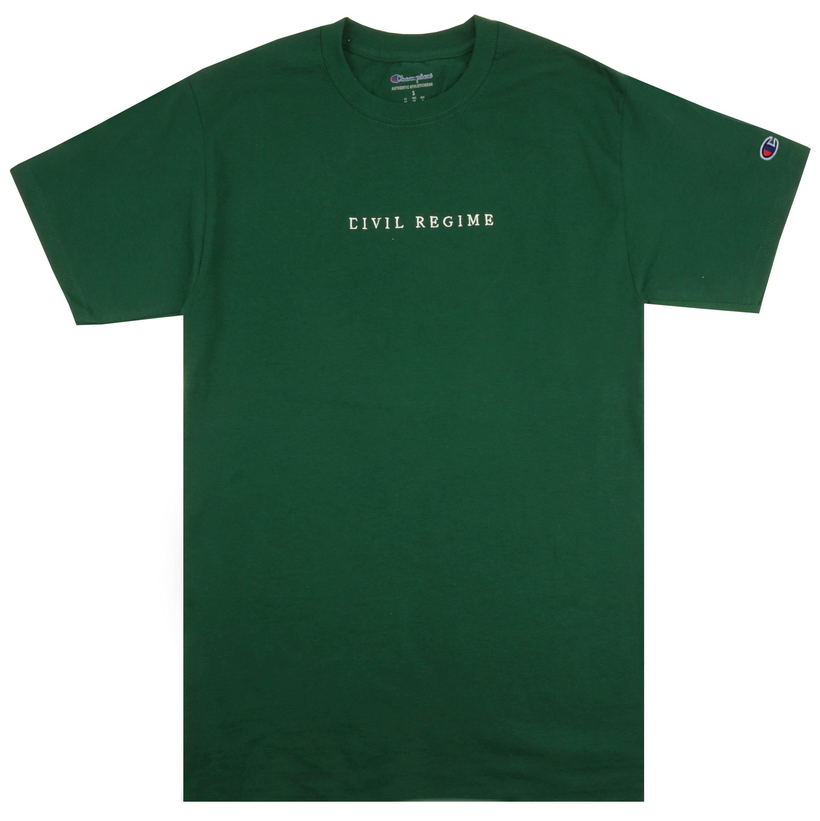 Champion Civil Embroidered Tee in Green