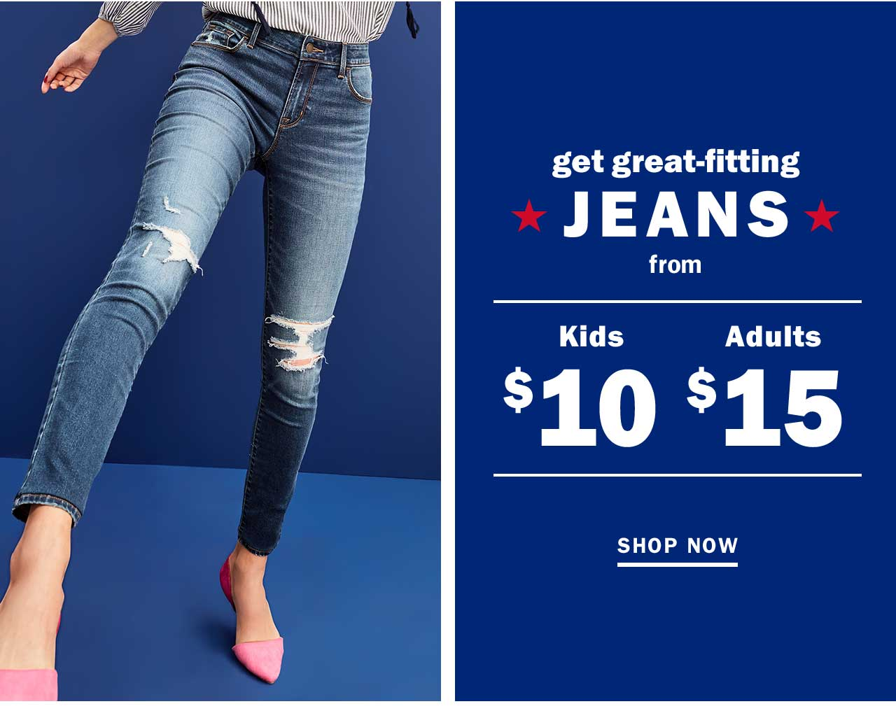 get great-fitting JEANS | SHOP NOW
