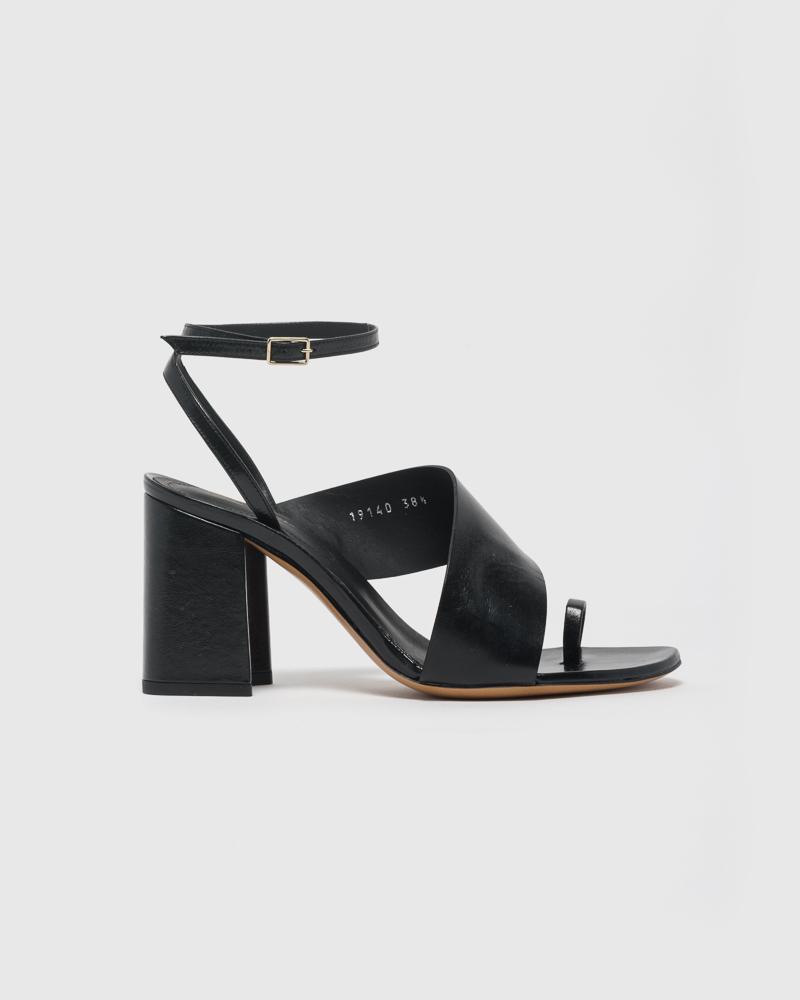 Multi-Strap Sandal in Black by Dries Van Noten