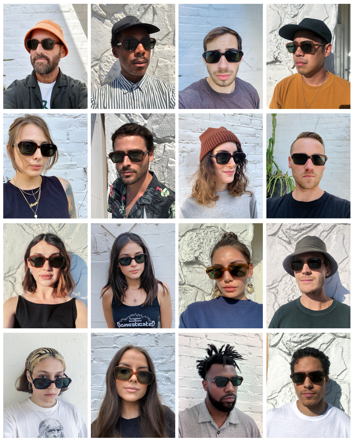Grid of images of people