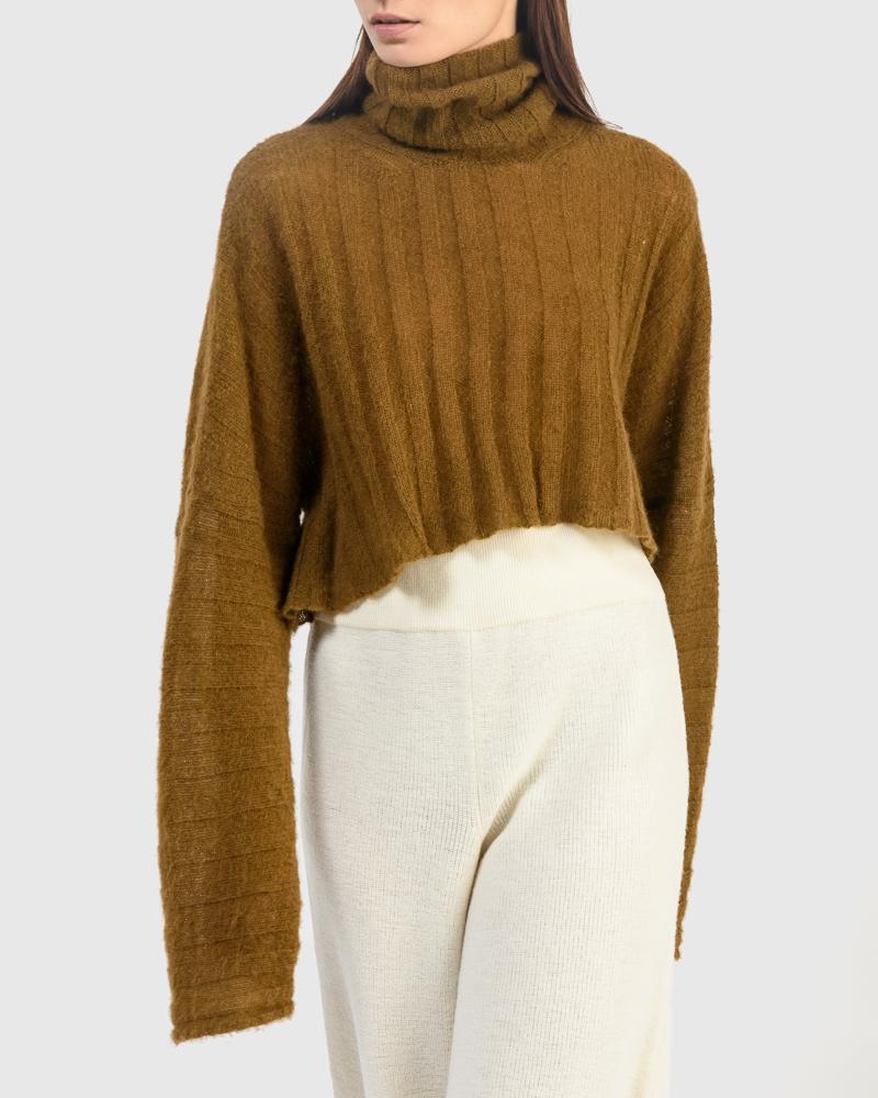 Sensu Crop Sweatshirt in Chestnut