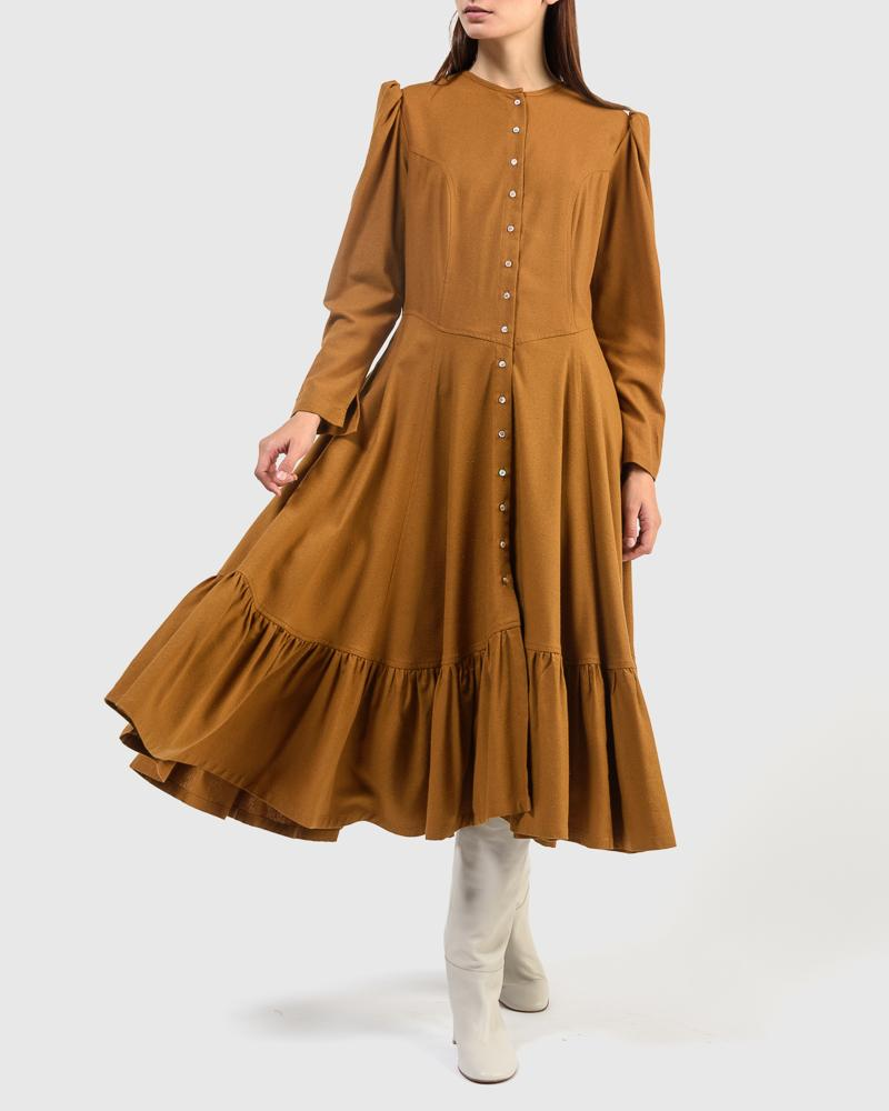 Rosa Dress in Caramel by Town Clothes