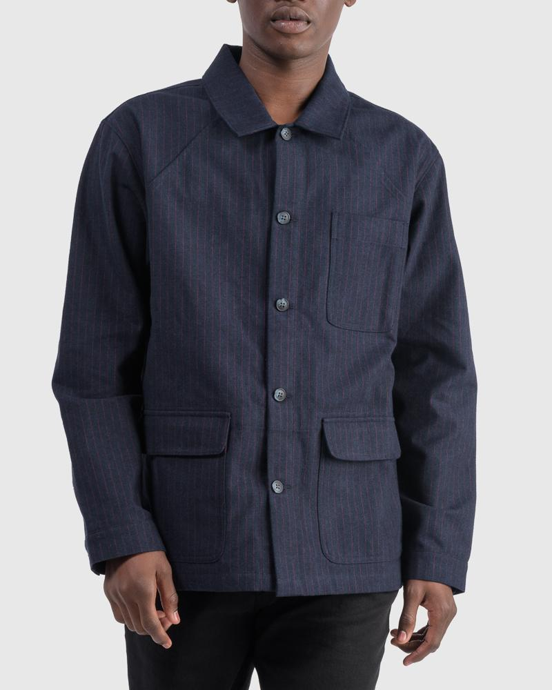 Chore coat in red ticking by Raleigh