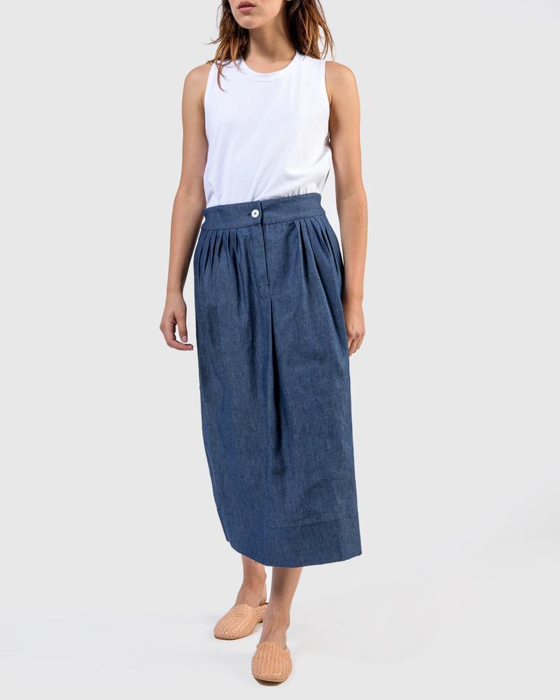 Nao skirt in Denim by SMOCK