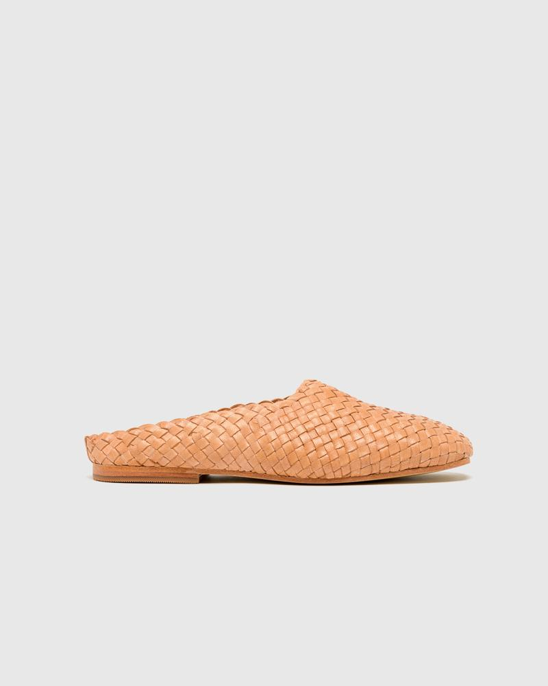 Agnes Woven Flat in Nude by St. Agni