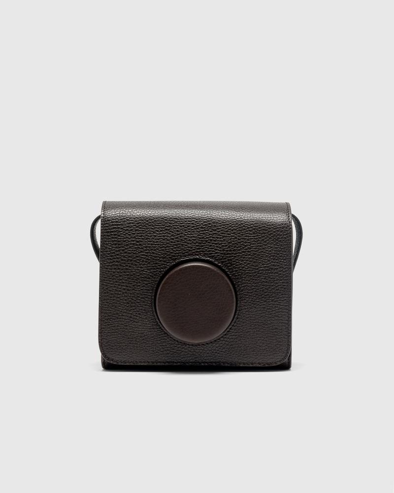 Camera Bag in Dark Chocolate by Lemaire