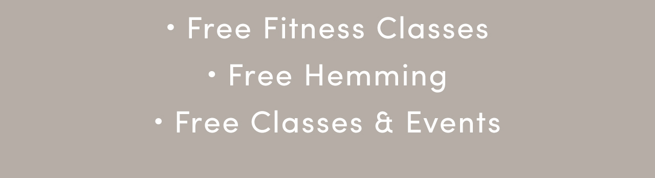 Free Fitness Classes | Free Hemming | Free Classes &Events