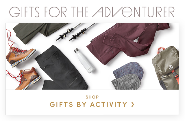 GIFTS FOR THE ADVENTURER | SHOP GIFTS BY ACTIVITY
