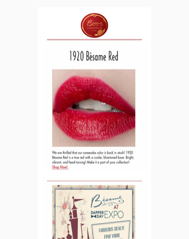 1920 Besame Red is BACK!