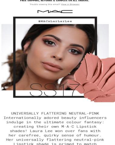 #MACxLarLarLee – The Adored Beauty Influencer Creates Her Own M∙A∙C Lipstick!