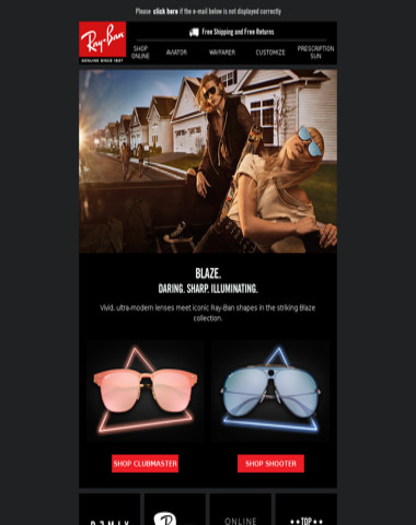 24f7c77bdb Ray Ban - Be Bold with Blaze  Ray-Ban s hottest launch of the year