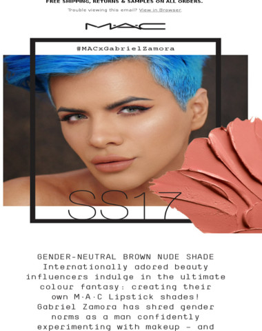 #MACxGabrielZamora – The Adored Beauty Influencer Creates His Own M∙A∙C Lipstick!