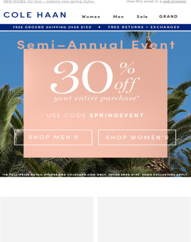 30% Off. Do not miss this event.