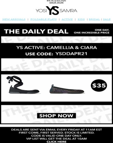 Don't Wait! The Daily Deal