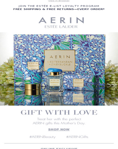 AERIN: Gift with Love this Mother's Day.