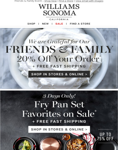 FRIENDS & FAMILY + More Great Deals This Weekend – In Stores & Online