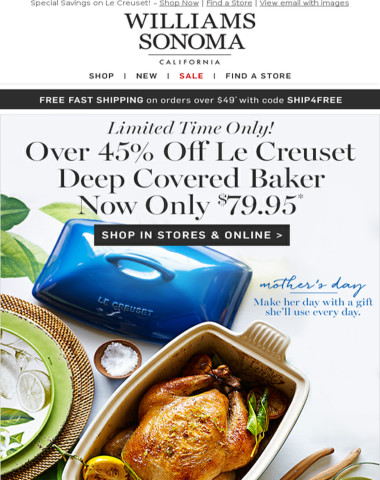 LE CREUSET Under $100! Weekend Savings Continue - In Stores & Online