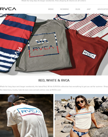 New Red, White & RVCA For Summer '17!