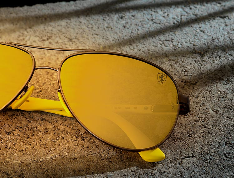 BROWN MIRROR GOLD POLARIZED LENSES