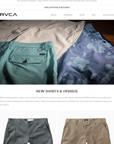 New shorts & hybrids just in for summer!