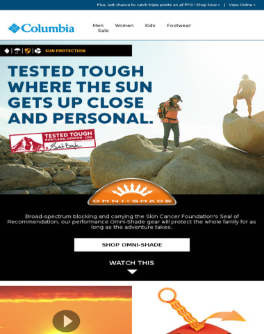 Sun protection gear approved by The Skin Cancer Foundation.