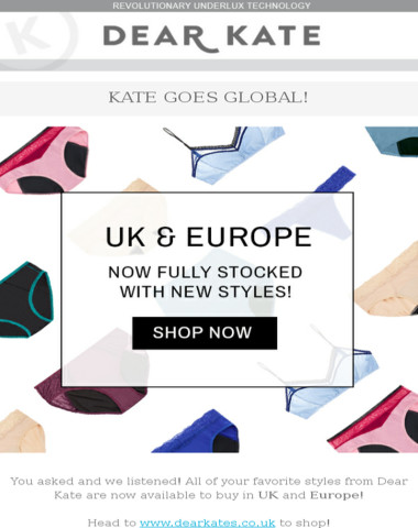 Pack Your Bags: Dear Kate Goes Global