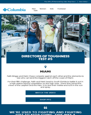 Gone fishing: Our Directors of Toughness take on Miami.