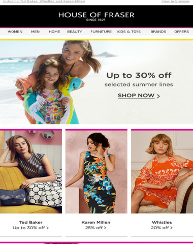 Summer Offers: Up to 30% off swimwear, handbags and more