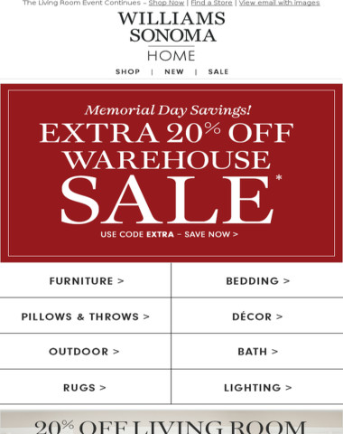 WAREHOUSE SALE Starts Today!