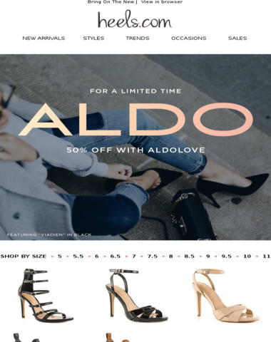 Love Aldo? We Do Too! Take 50% Off! #ALDOLOVE