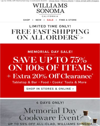 You're Being Rewarded With up to 75% Off in Our Memorial Day Cookware Event + MORE Deals