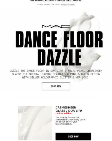 Dua Lipa's Lipglass Has Dance Floor-Worthy Dazzle