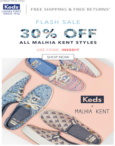 FLASH SALE: 30% Off All Malhia Kent Styles!
