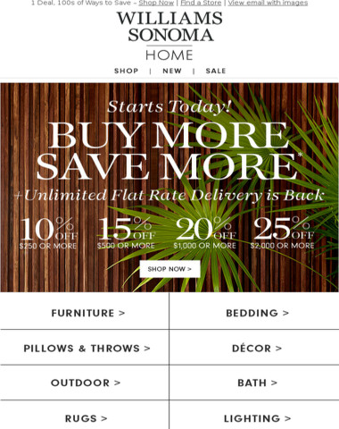 Buy More Save More Starts Today!