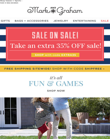 Let the outdoor tourneys begin! {Plus, enjoy 35% off all sale styles!}