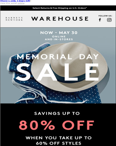 Sale PSA: Don't Miss Up to 80% Off Savings in Our Memorial Day Sale!