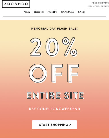 STILL HAPPENING: 20% Off entire site!
