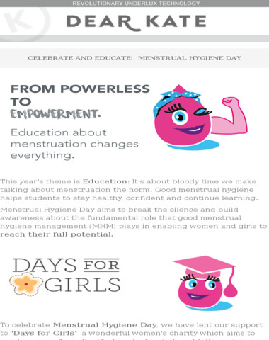 Menstrual Hygiene Day: Education is key